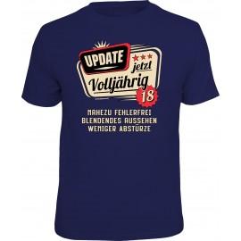 RAHMENLOS Original T-Shirt Update jetzt volljährig