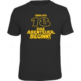 RAHMENLOS Original T-Shirt Endlich 18...