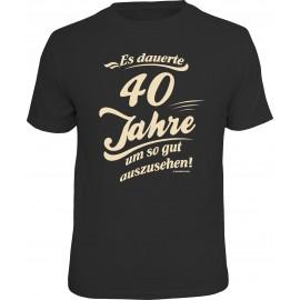 RAHMENLOS Original T-Shirt Es dauerte 40 Jahre