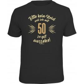 RAHMENLOS Original T-Shirt bitte kein Neid... 50