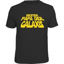 RAHMENLOS Original T-Shirt Bester Papa der Galaxis