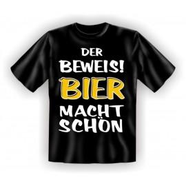 RAHMENLOS Original T-Shirt Der Beweis, Bier macht schön