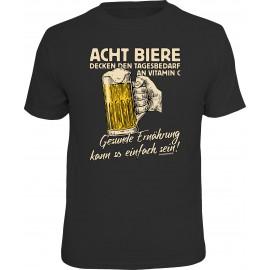 RAHMENLOS Original T-Shirt Acht Biere -  Gesunde Ernährung