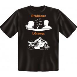RAHMENLOS Original T-Shirt Biker Problem - Lösung