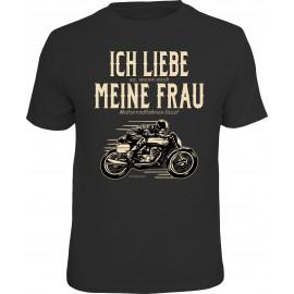 RAHMENLOS Original T-Shirt Biker T-Shirt für den Motorradfahrer im Beziehungsstress
