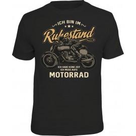 RAHMENLOS Original T-Shirt Biker Ich bin im Ruhestand ...