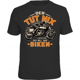 RAHMENLOS Original T-Shirt Biker Der Tut nix der will nur Biken