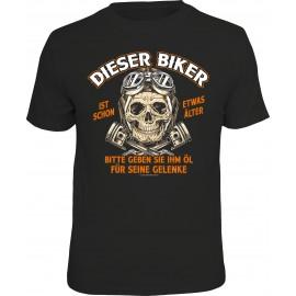 RAHMENLOS Original T-Shirt Biker Dieser Biker ist schon etwas älter ....