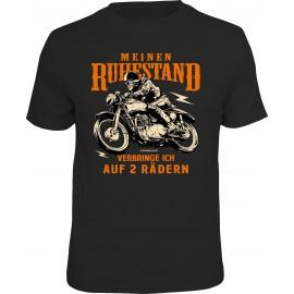 RAHMENLOS Original T-Shirt Biker Meinen Ruhestand verbringe ich auf 2 Rädern