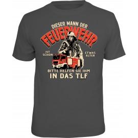 RAHMENLOS Original T-Shirt Dieser Mann der Feuerwehr...