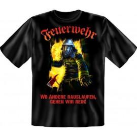 RAHMENLOS Original T-Shirt wo Andere rauslaufen, gehen wir rein