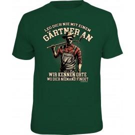 RAHMENLOS Original T-Shirt leg dich nie mit einem Gärtner an