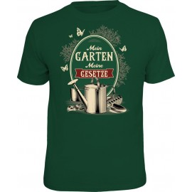 RAHMENLOS Original T-Shirt Mein Garten, meine Gesetze