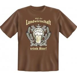RAHMENLOS Original T-Shirt Hilf der Landwirtschaft, trink Bier