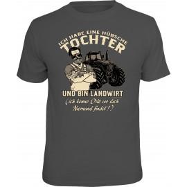 RAHMENLOS Original T-Shirt Hübsche Tochter... Landwirt