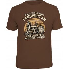 RAHMENLOS Original T-Shirt Leg dich nie mit einem Landwirt an