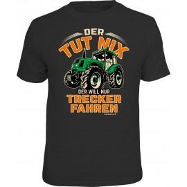 RAHMENLOS Original T-Shirt der tut nix, der will nur Trekker fahren