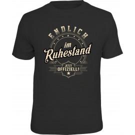 RAHMENLOS Original T-Shirt Premium Endlich im Ruhestand