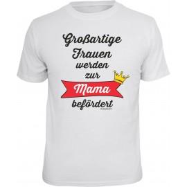 RAHMENLOS Original T-Shirt zur Mama befördert