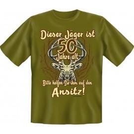 RAHMENLOS Original T-Shirt Dieser Jäger ist 50 Jahre alt