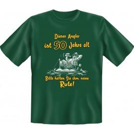 RAHMENLOS Original T-Shirt Dieser Angler ist 50 Jahre alt