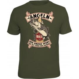 RAHMENLOS Original T-Shirt Angeln, der einzige Sport
