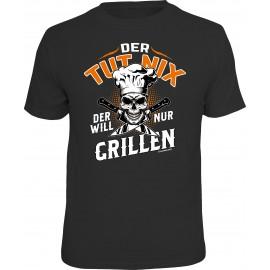 RAHMENLOS Original T-Shirt Der will nur Grillen