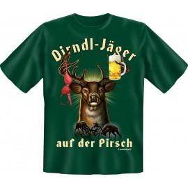 RAHMENLOS Original T-Shirt Dirndl-Jäger auf der Pirsch