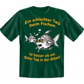 RAHMENLOS Original T-Shirt Ein schlechter Tag beim Fischen