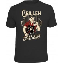 RAHMENLOS Original T-Shirt Grillen, immer eine gute Idee!