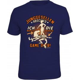 RAHMENLOS Original T-Shirt Junggesellenabschied Game Over